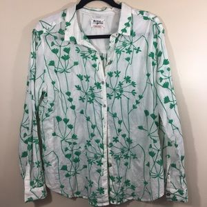 Anthro HH Embroidered Button Down